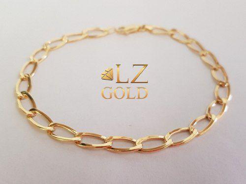 Pulseira Grumet Cartier Ouro 18k Longa Elos Ovais + Garantia