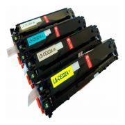 Kit 4 Toner HP CE320 CE321 CE322 CE323 128A - CM1415 CP1525  Compativel
