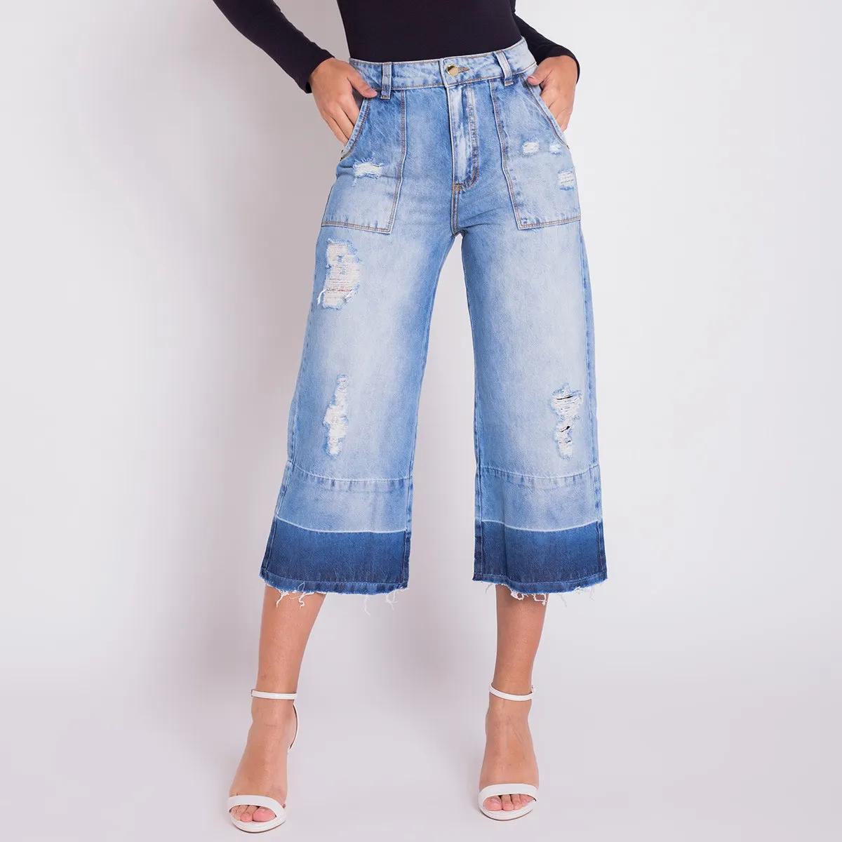 Calça Jeans Areazul Pantacourt Feminina
