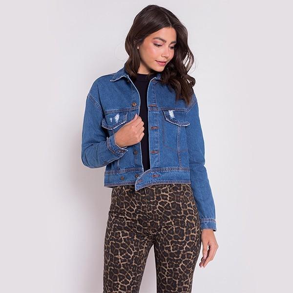 Jaqueta Jeans Areazul Feminina