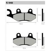 Pastilha Dianteira Semi-Met. FJ2080  - Tukas Motos Comércio Ltda