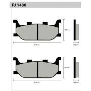 Pastilha Dianteira FJ1430  - Tukas Motos Comércio Ltda