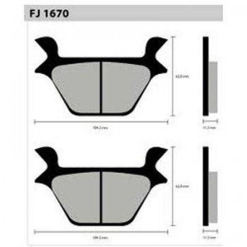 PASTILHA DE FREIO FISCHER FJ1670 - Tukas Motos Comércio Ltda