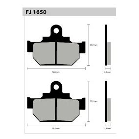 Pastilha Dianteira Semi-Met. FJ1650 FYM250 / SAVAGE650 - Tukas Motos Comércio Ltda