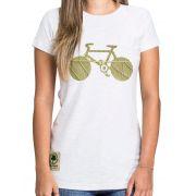 Baby Look Amazônia Bike Folha - Branco