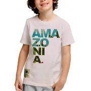 Camiseta Amazônia Adolescente Ama zo ni a - Lilás