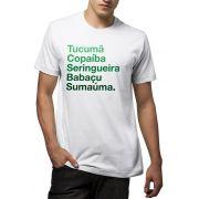 Camiseta Amazônia Árvores da Amazônia - Branco