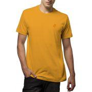 Camiseta Amazônia Básica Árvore Bordada - Amarelo Escuro