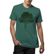 Camiseta Amazônia Flamê Orgânico Logo Terra - Verde
