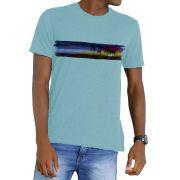 Camiseta Amazônia Garrafa Pet Sunset Bahia - Azul Claro
