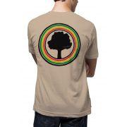 Camiseta Amazônia Logo Rasta - Bege Escuro