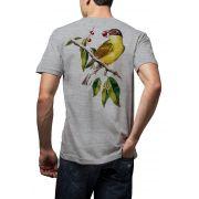 Camiseta Amazônia Pássaro Figo - Mescla