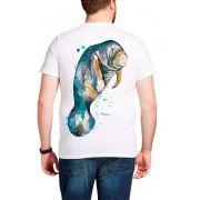 Camiseta Amazônia Peixe Boi - Branco