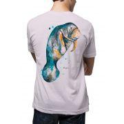Camiseta Amazônia Peixe Boi - Lilás