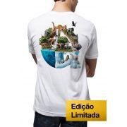 Camiseta Amazônia Proteja os Animais - Branco