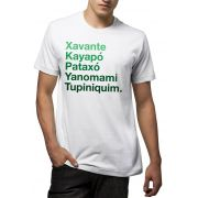 Camiseta Amazônia Tribos Indígenas da Amazônia - Branco
