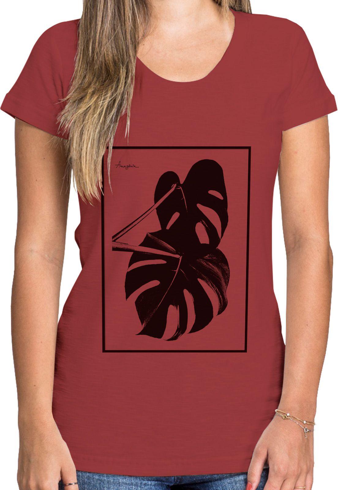 Baby Look Amazônia Aracea - Vermelho