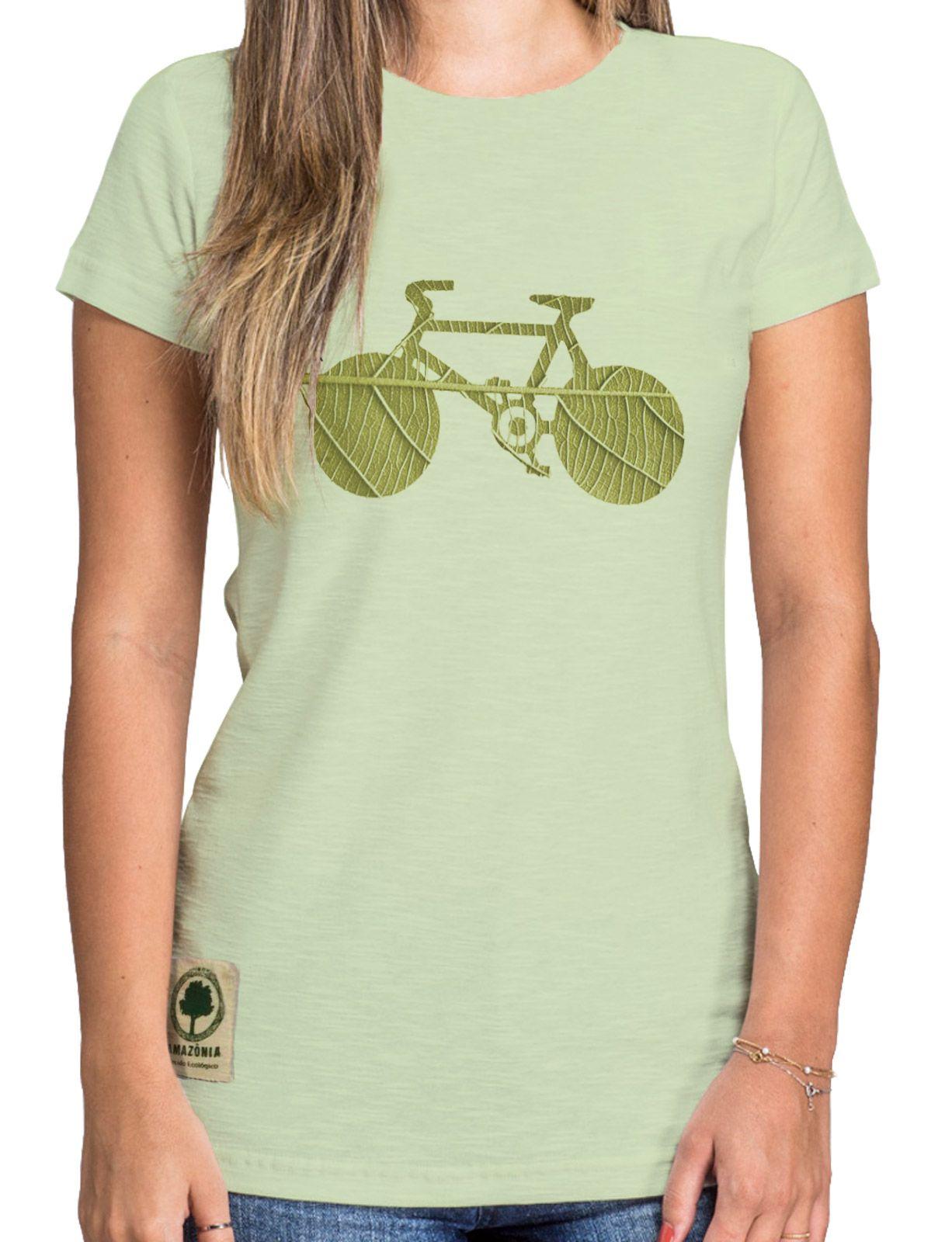 Baby Look Amazônia Bike Folha - Verde