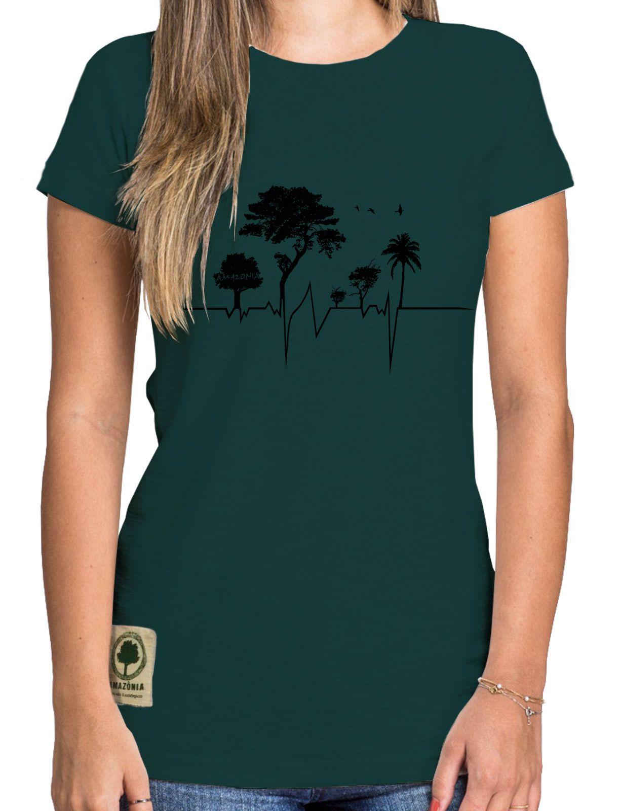 Baby Look Amazônia Eletrocardio - Verde
