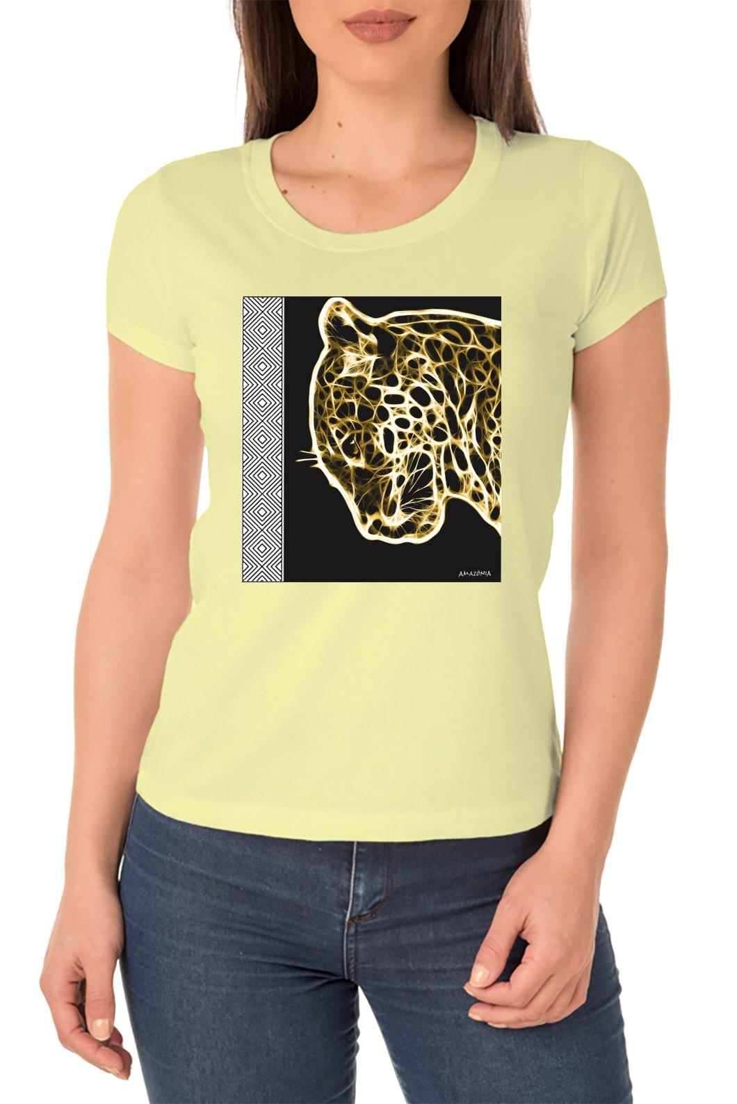 Baby Look Amazônia SOS Natureza - Amarelo