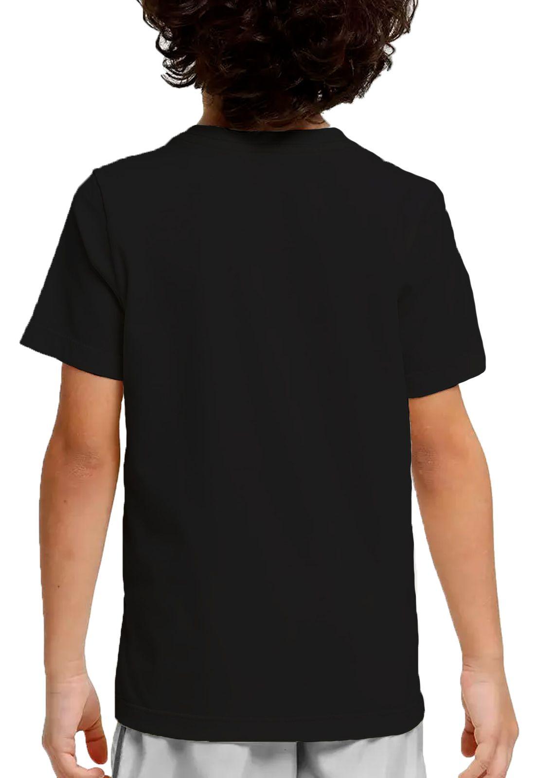 Camiseta Amazônia Adolescente Leão Rasta - Preto