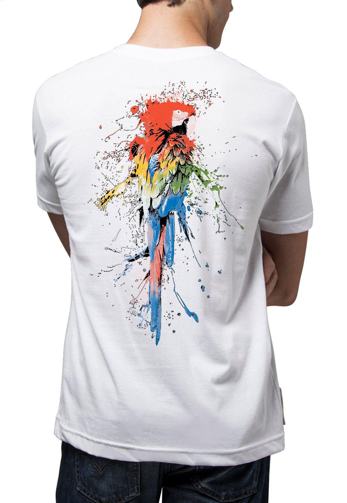 Camiseta Amazônia Aquarela da Natureza - Branco