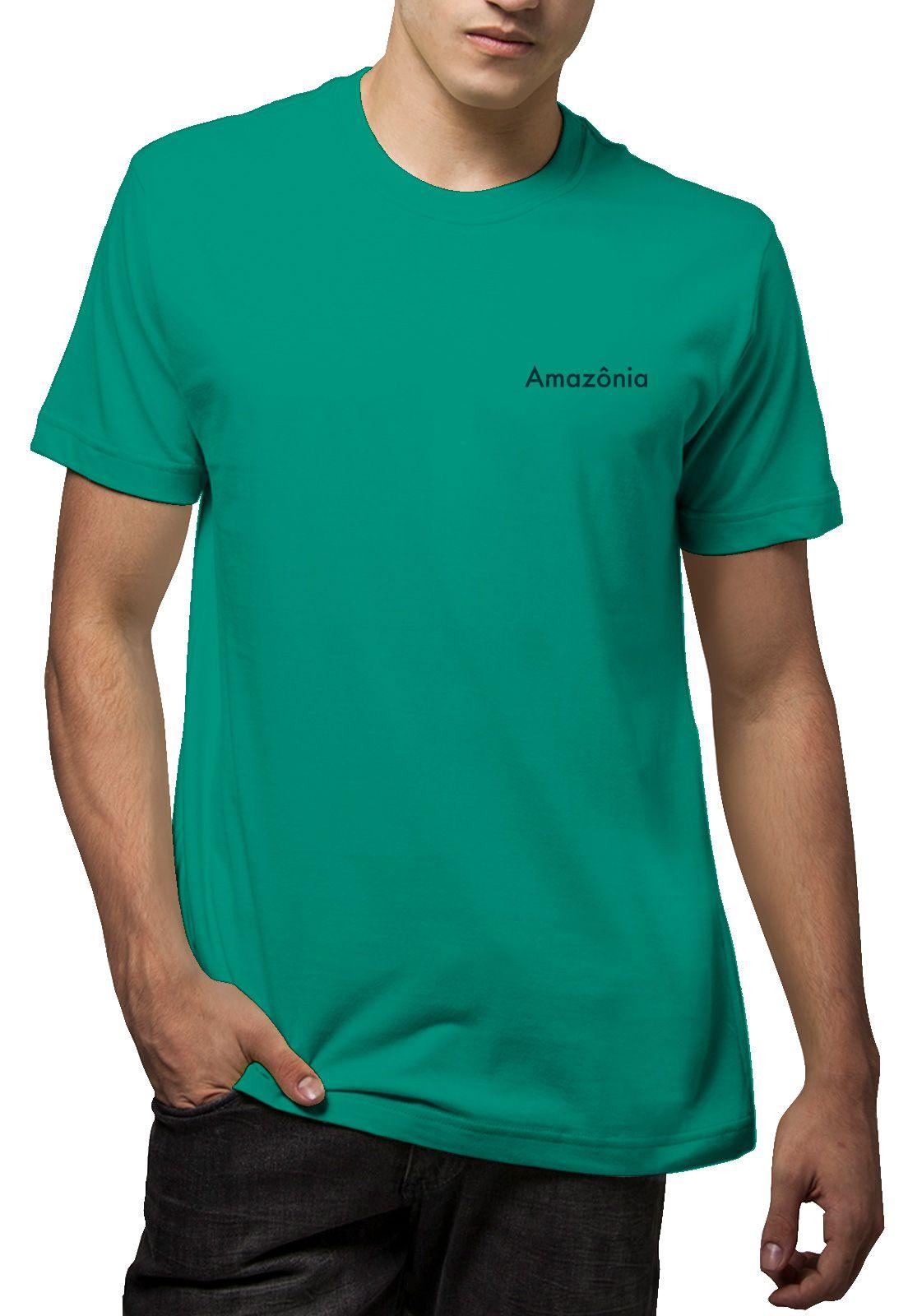 Camiseta Amazônia Árvore Bichos - Verde