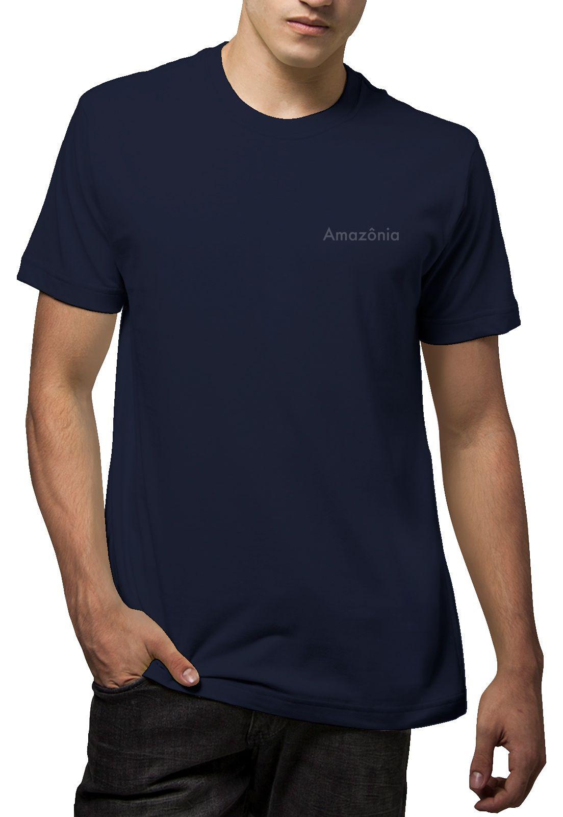 Camiseta Amazônia Árvore Noite - Azul Escuro