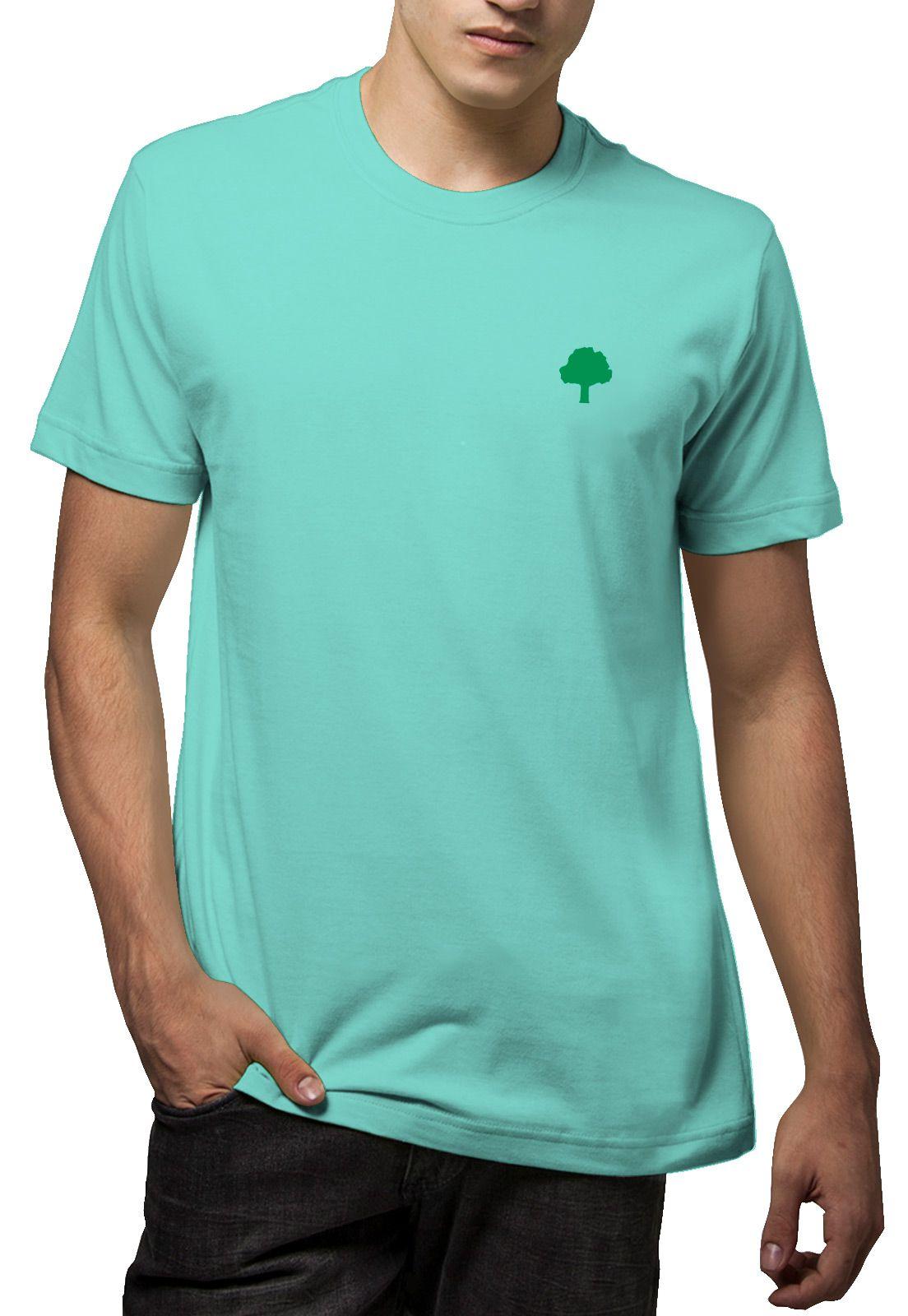 Camiseta Amazônia Árvore Planeta - Verde Claro