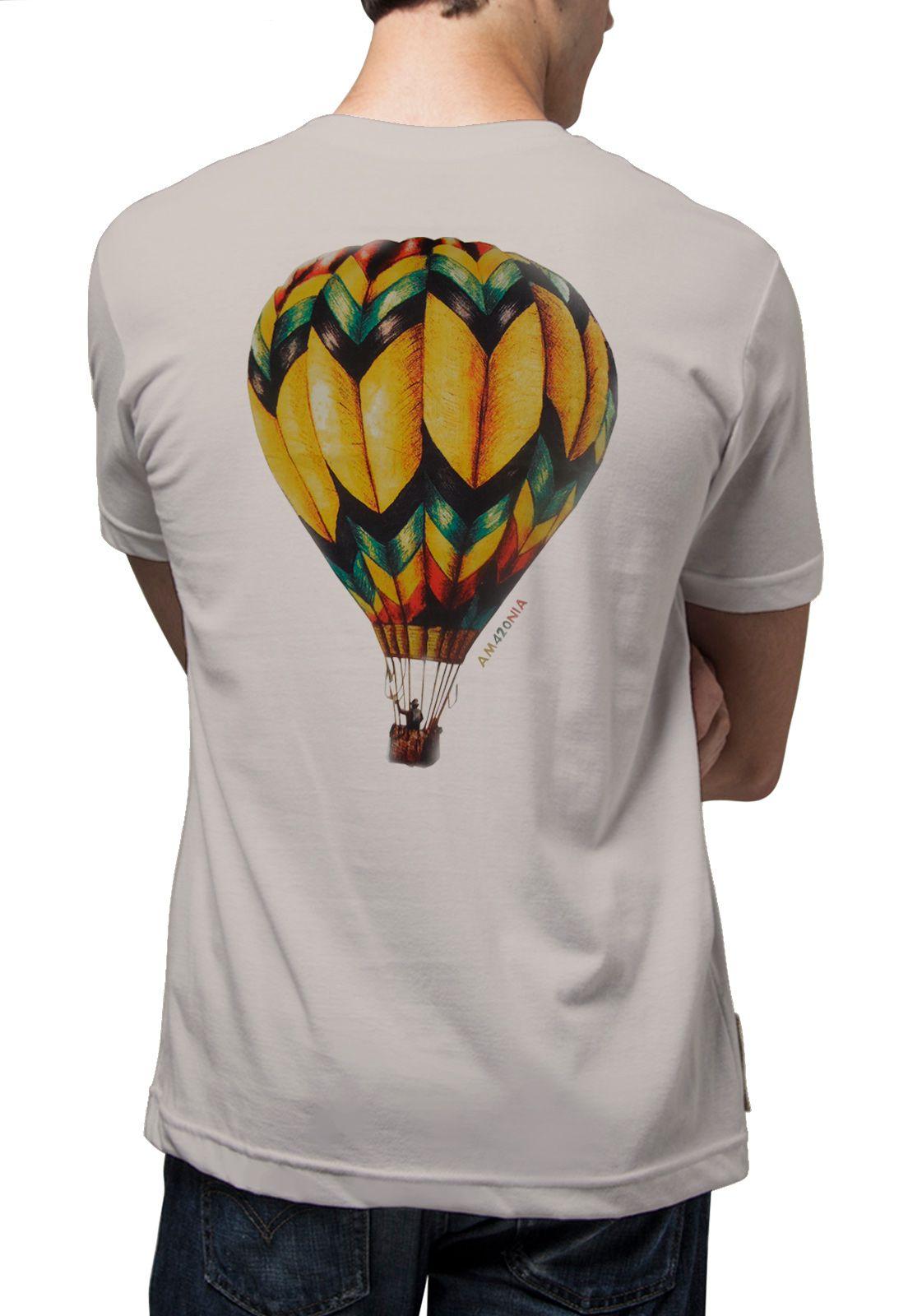 Camiseta Amazônia Balão - Bege