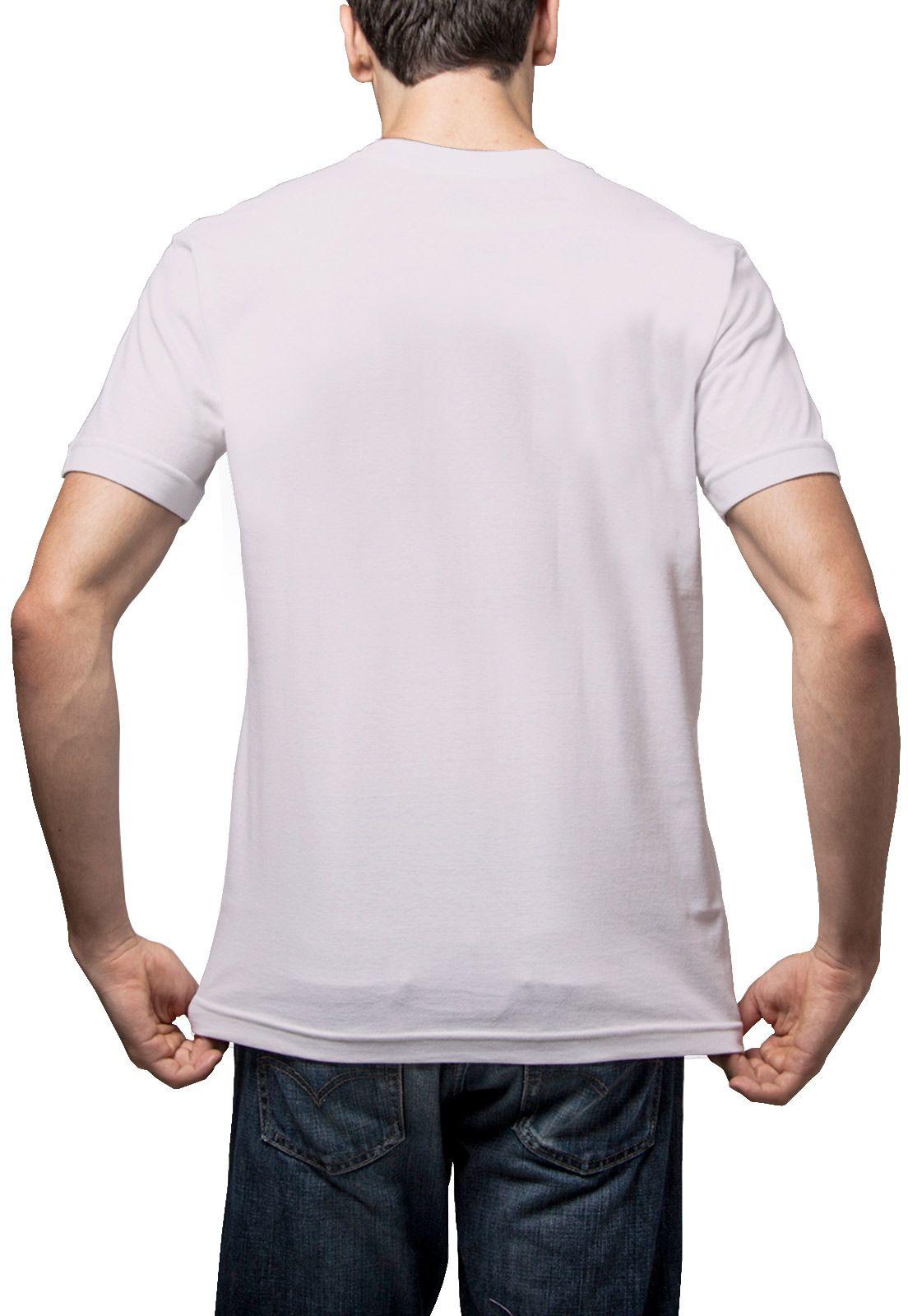 Camiseta Amazônia Básica Árvore Bordada Gola V - Lilás
