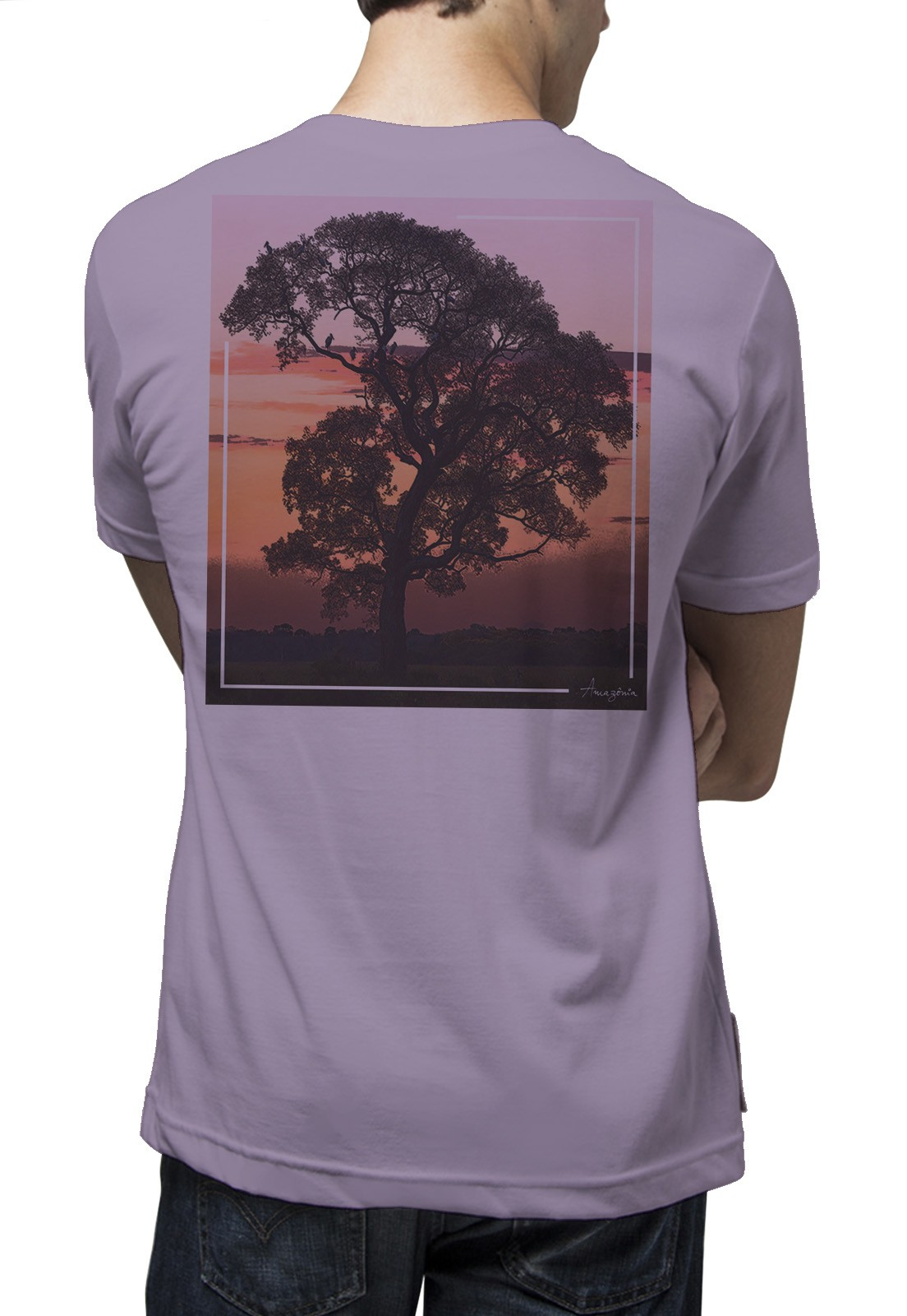 Camiseta Amazônia Bela Paisagem - Lilás