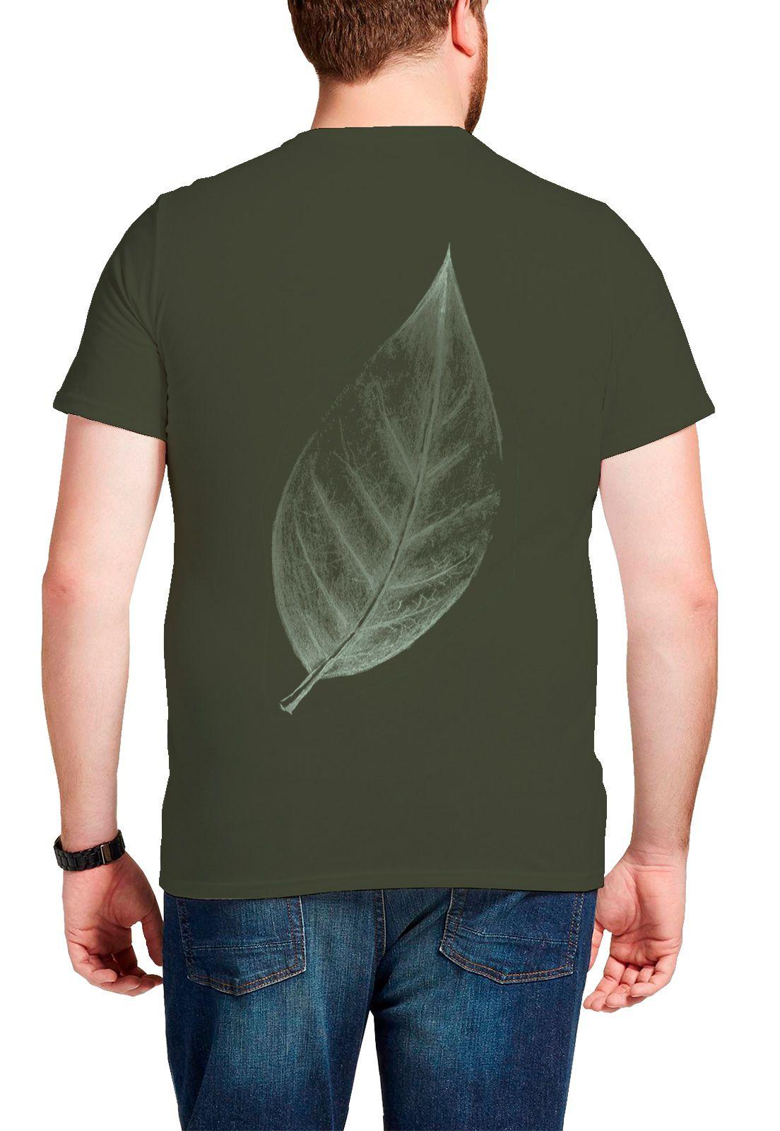 Camiseta Amazônia Big Leaf - Verde Escuro