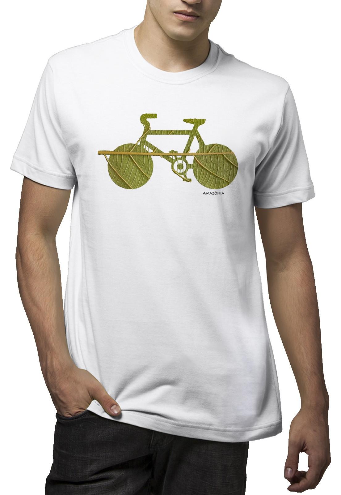 Camiseta Amazônia Bike Folha - Branco