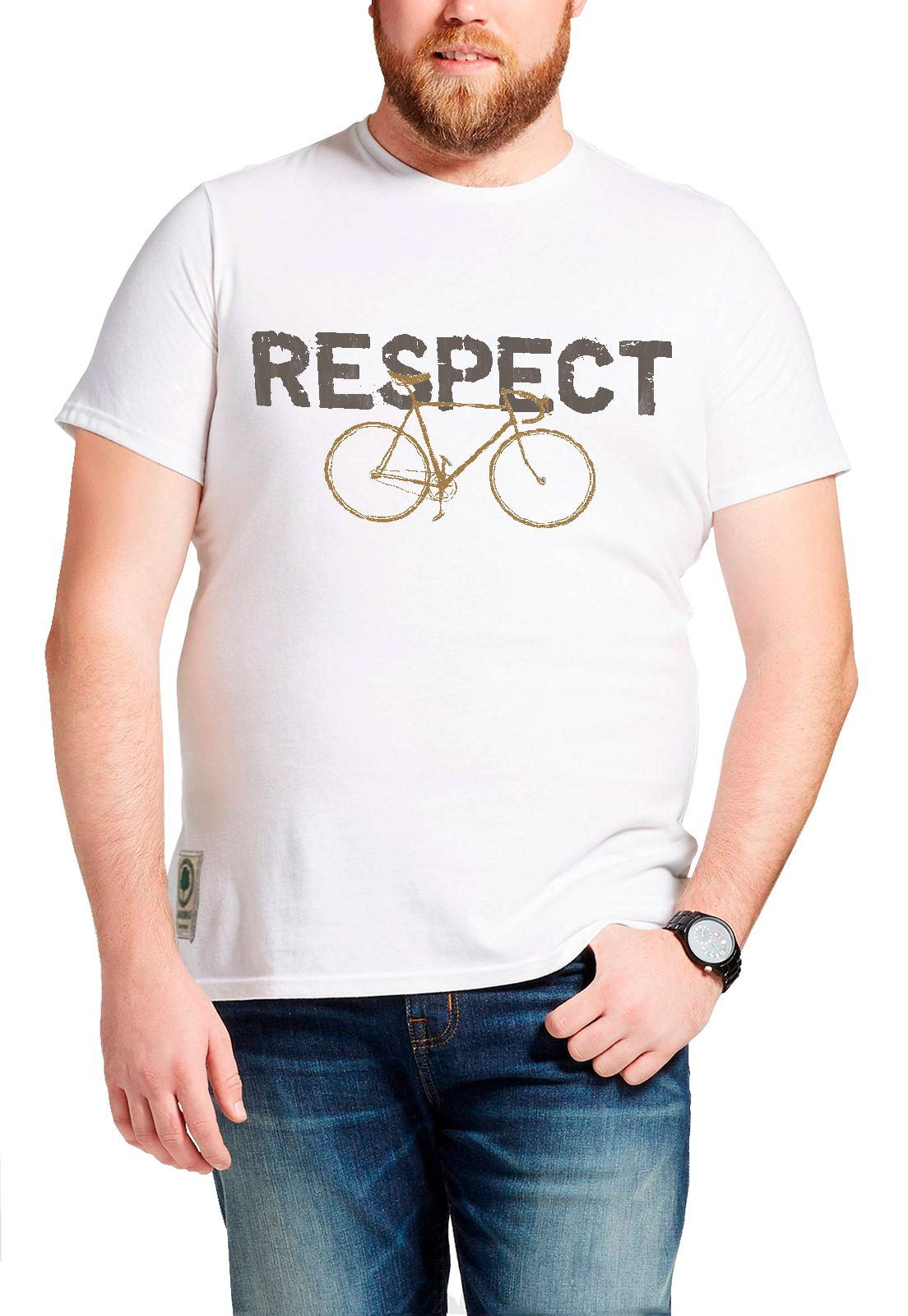 Camiseta Amazônia Bike Respect - Branco