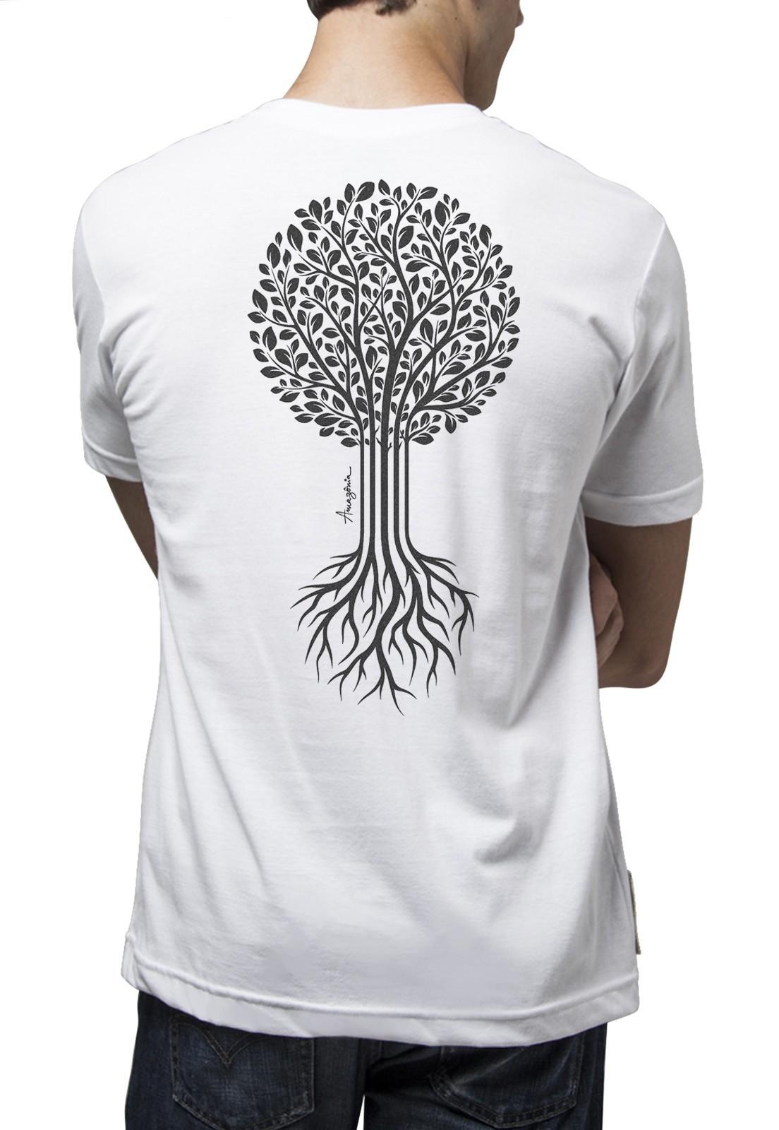 Camiseta Amazônia Bio Raíz - Branco