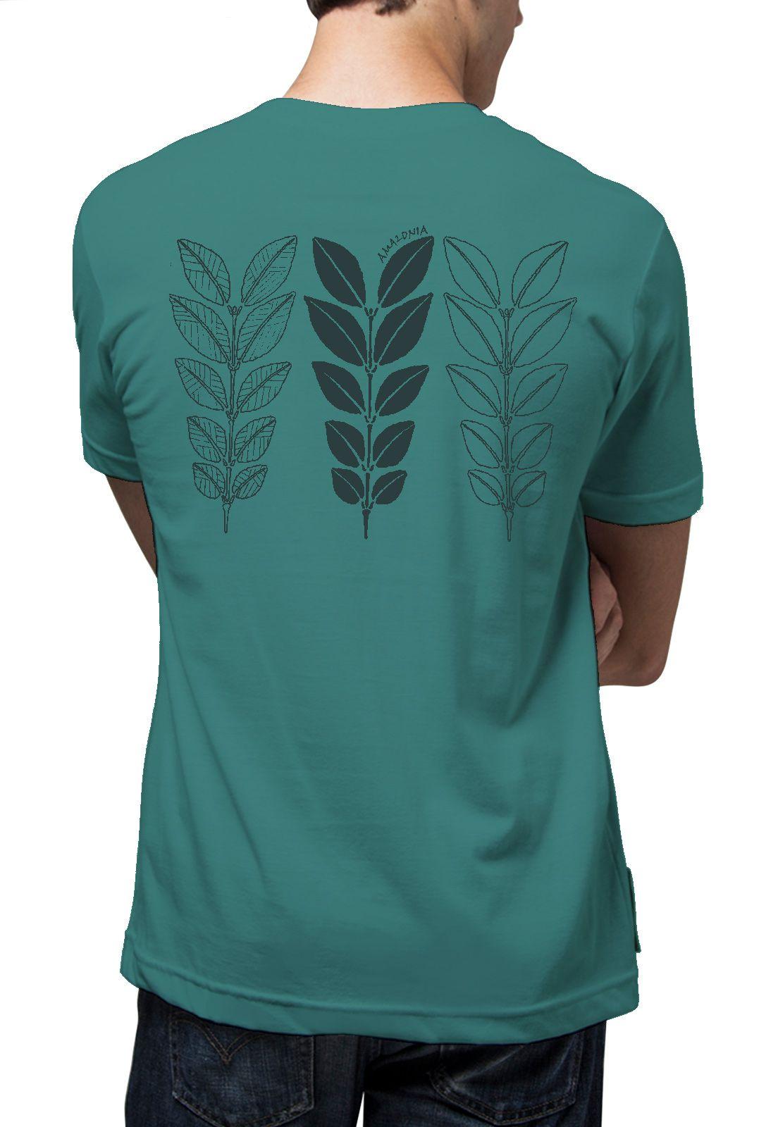 Camiseta Amazônia Biodiversidade - Azul