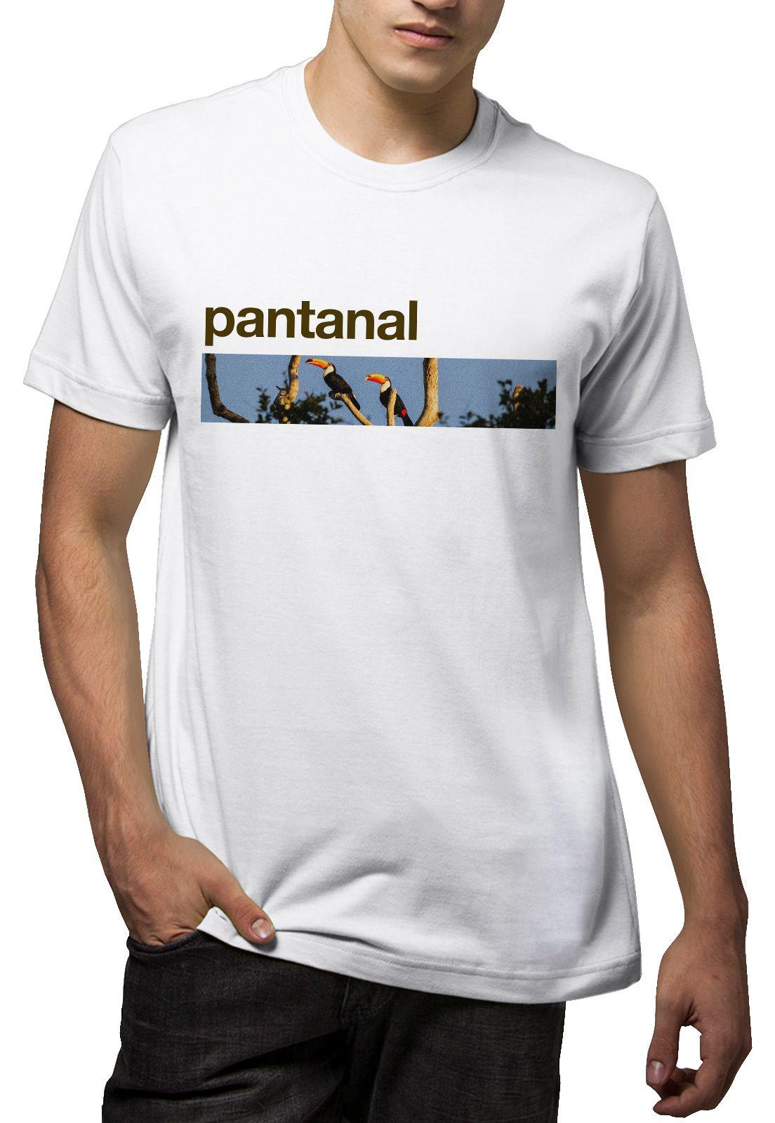 Camiseta Amazônia Bioma Pantanal - Branco