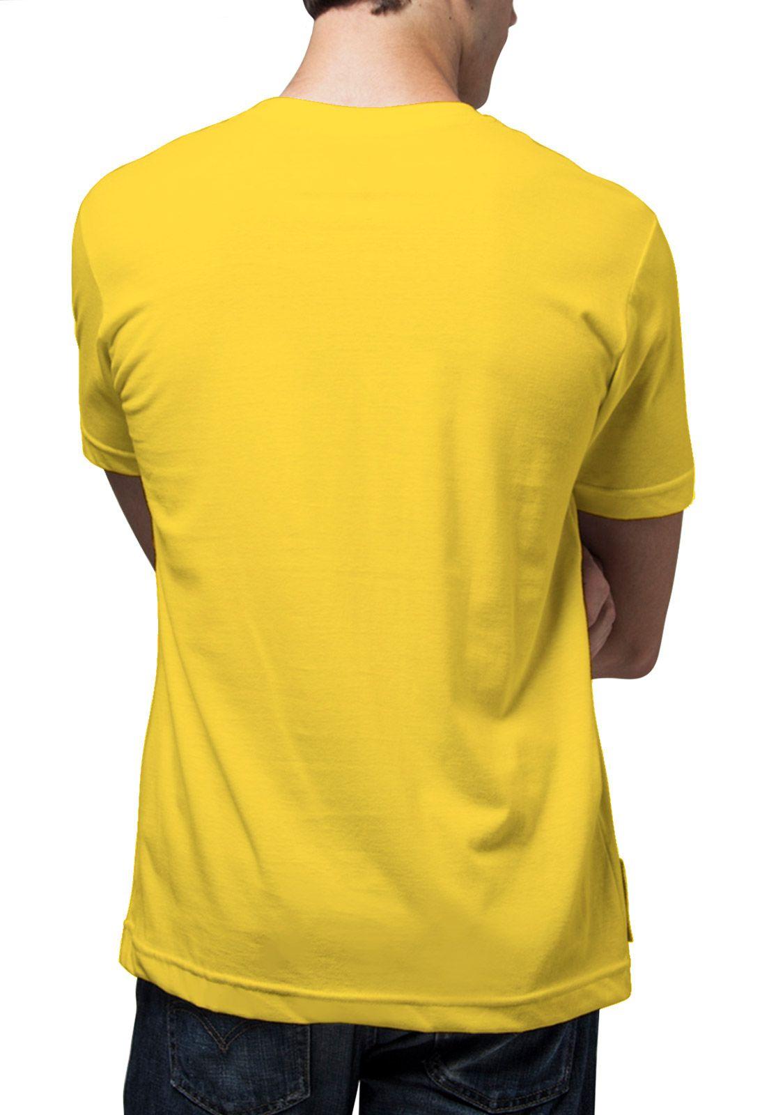 Camiseta Amazônia Bob e Peter - Amarelo Escuro