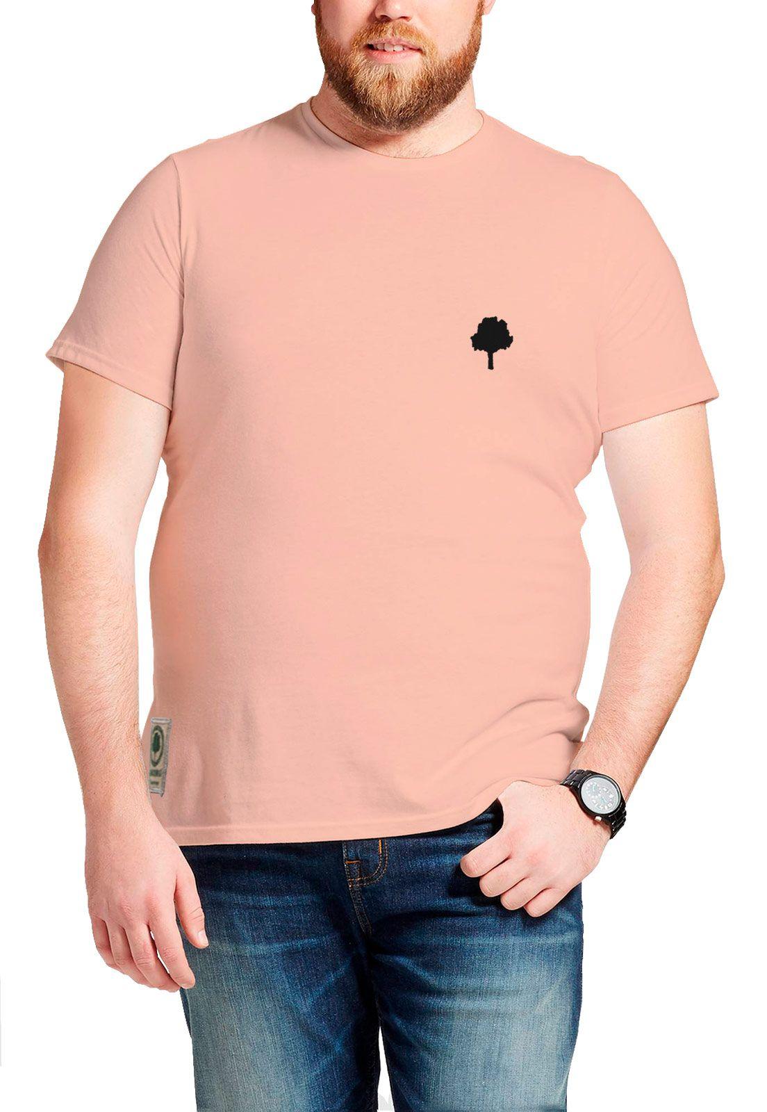 Camiseta Amazônia Caleidoscópio Logo - Salmão