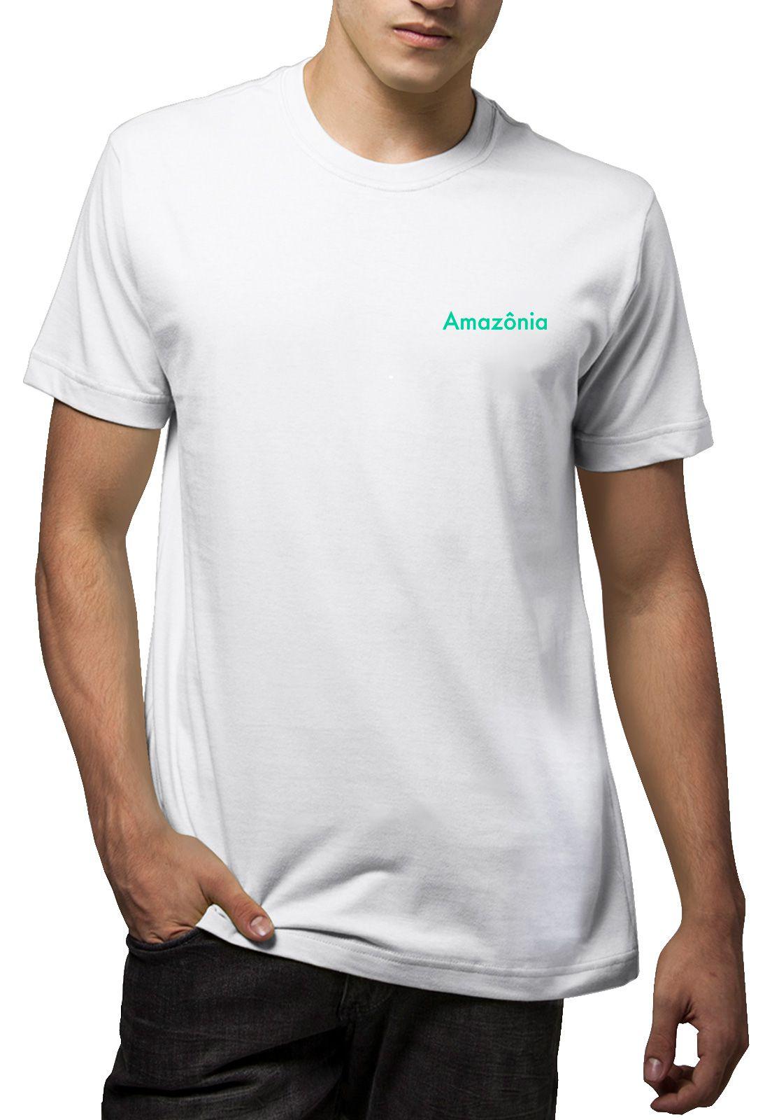 Camiseta Amazônia Calendário Maia - Branco