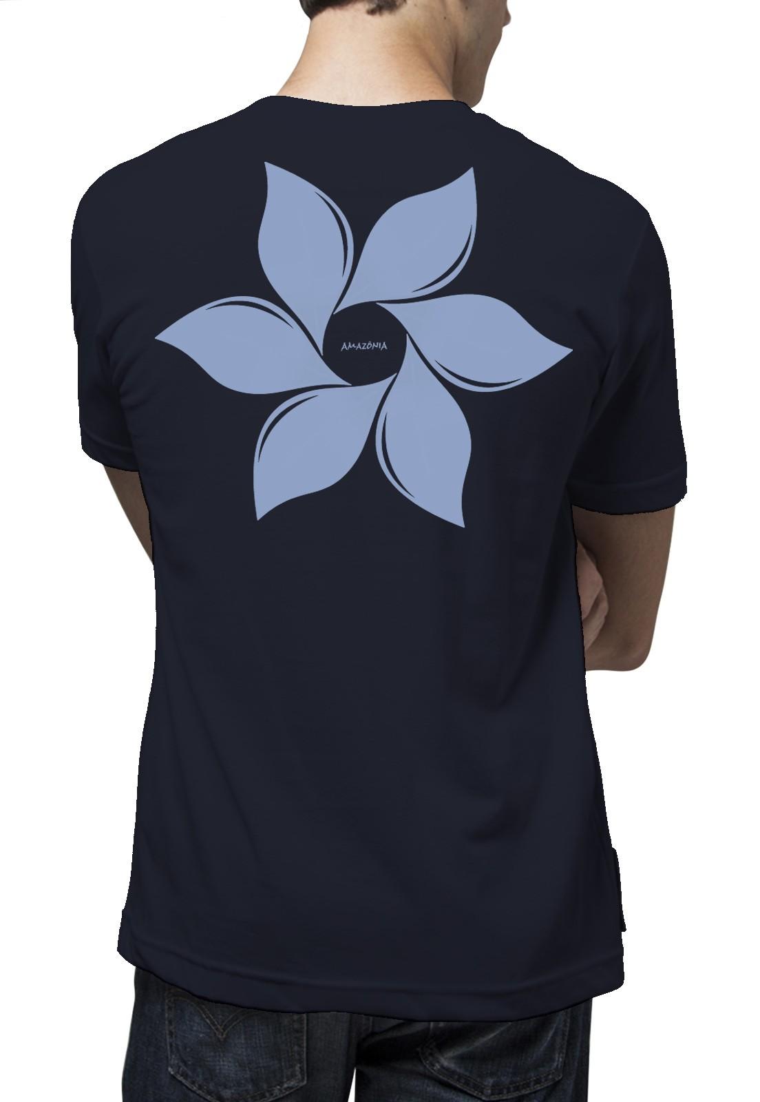 Camiseta Amazônia Catavento - Azul Escuro