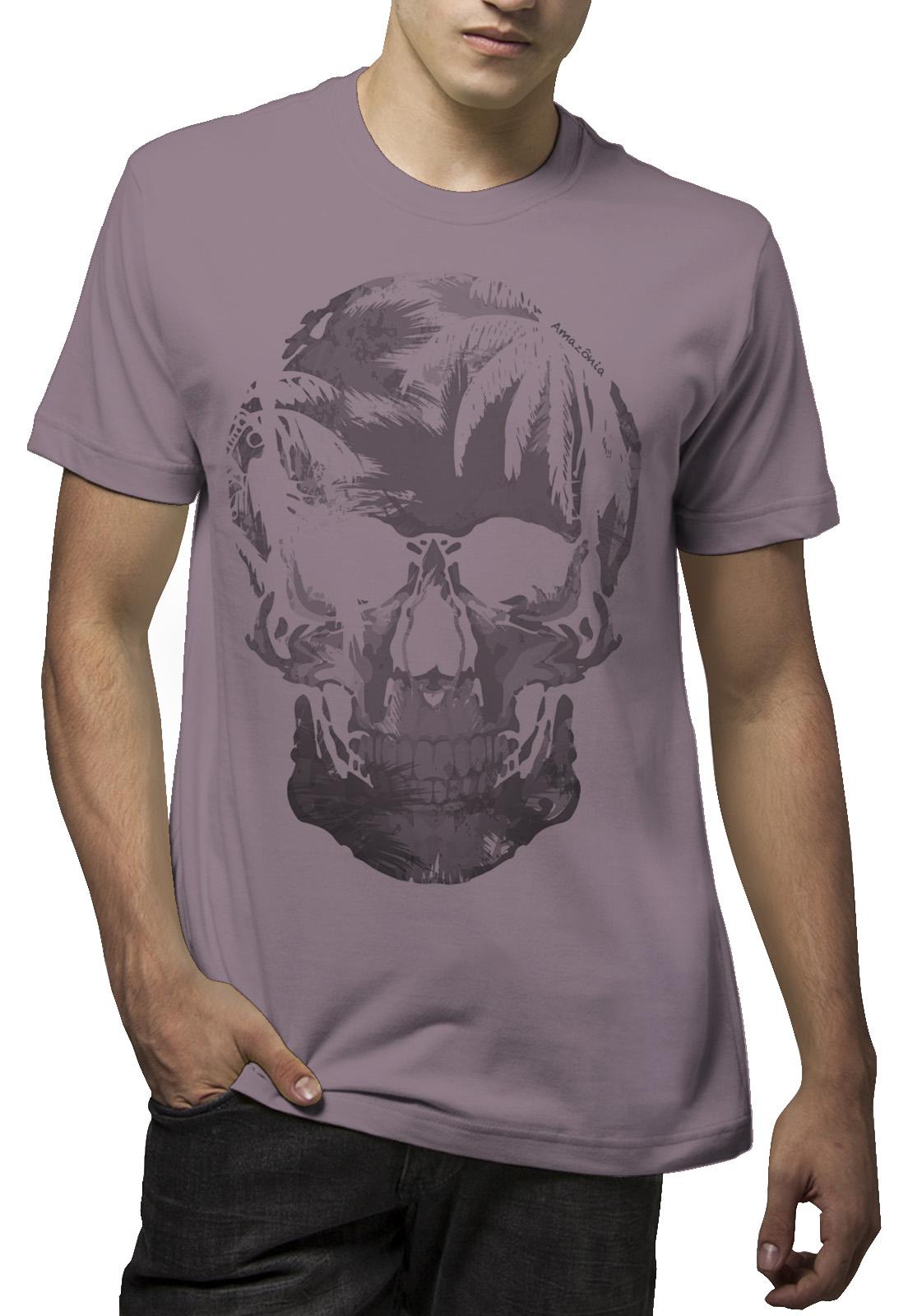 Camiseta Amazônia Caveira - Lilás