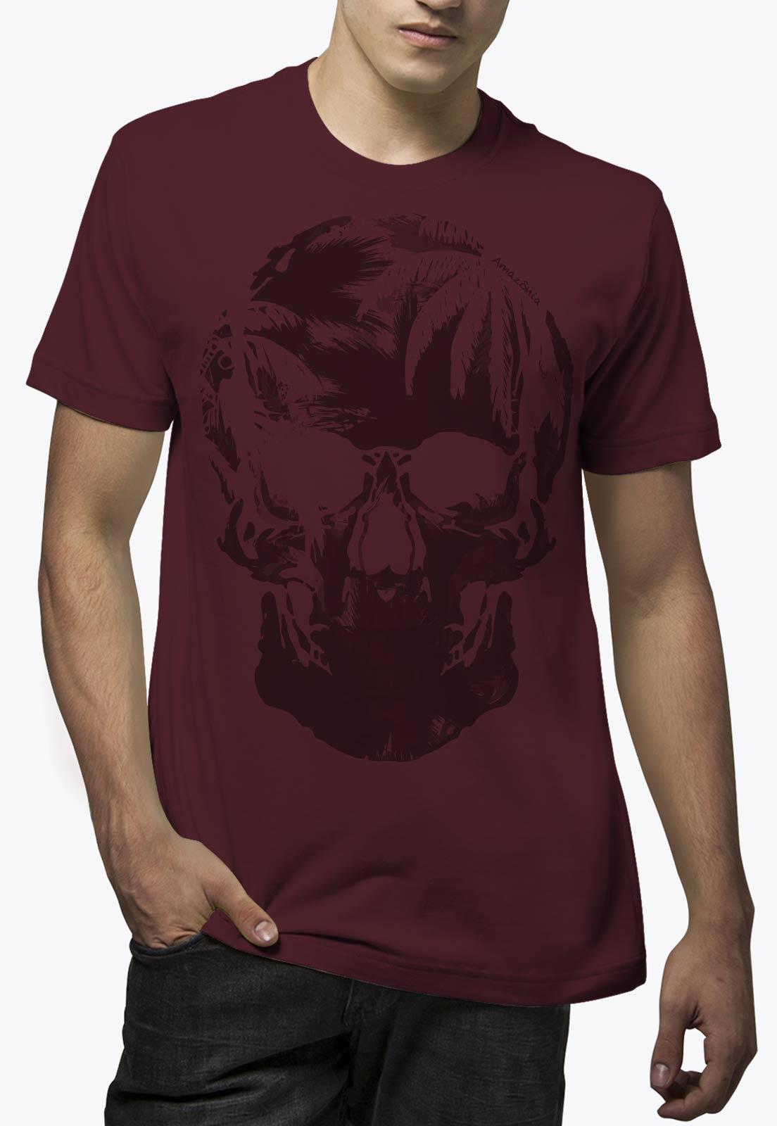 Camiseta Amazônia Caveira - Vinho