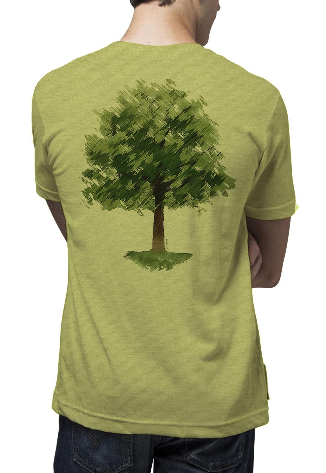 Camiseta Amazônia Chalk Tree - Mescla Amarelo