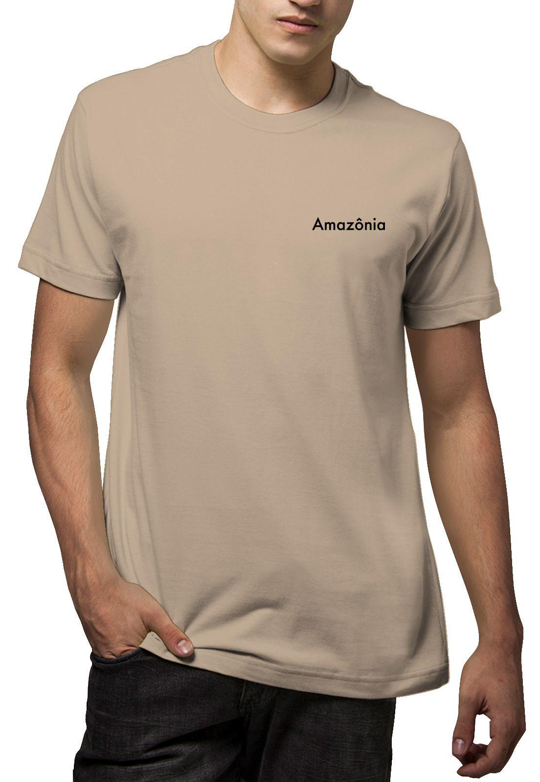 Camiseta Amazônia Ciclo da Vida - Bege
