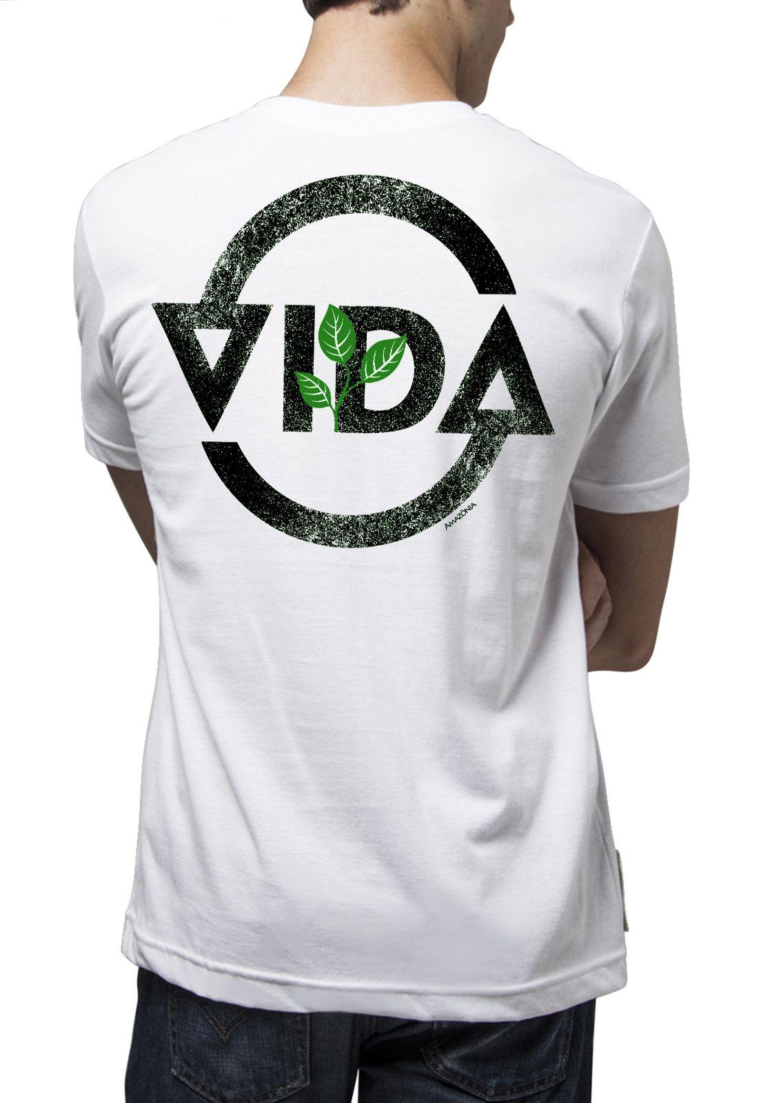 Camiseta Amazônia Ciclo da Vida - Branco