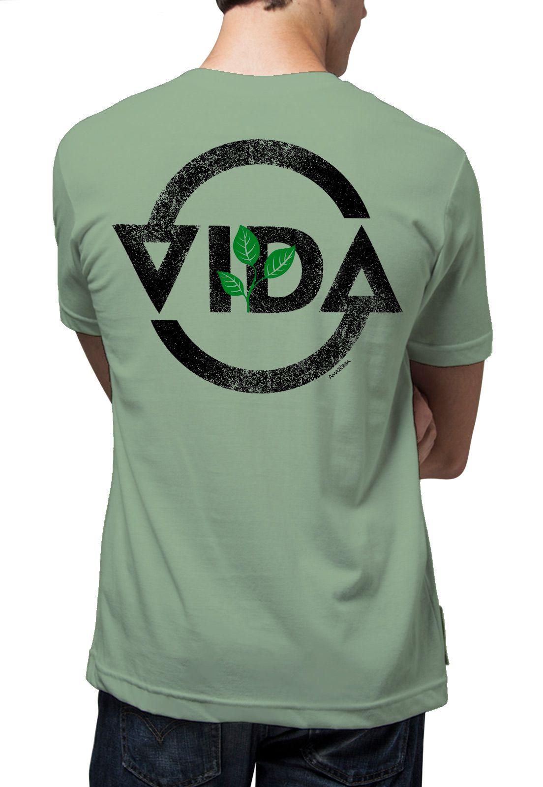 Camiseta Amazônia Ciclo da Vida - Verde