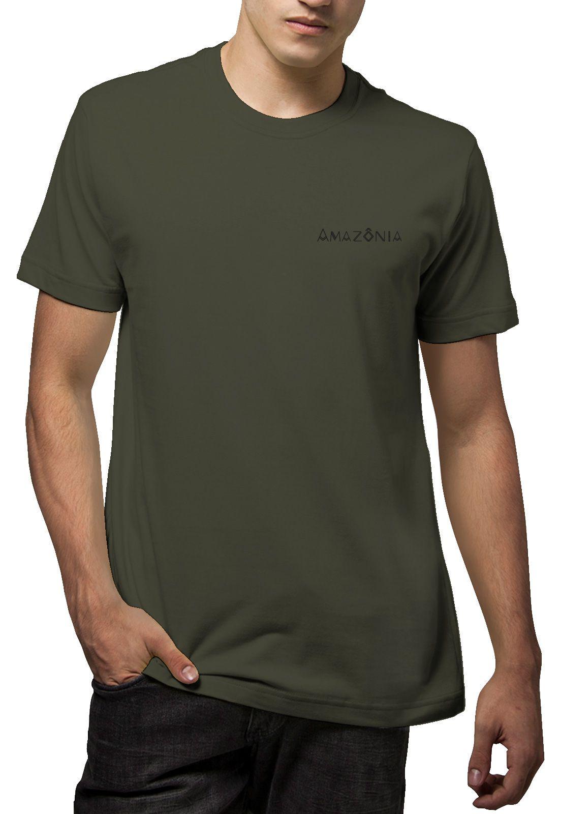 Camiseta Amazônia Colagem Logo - Verde