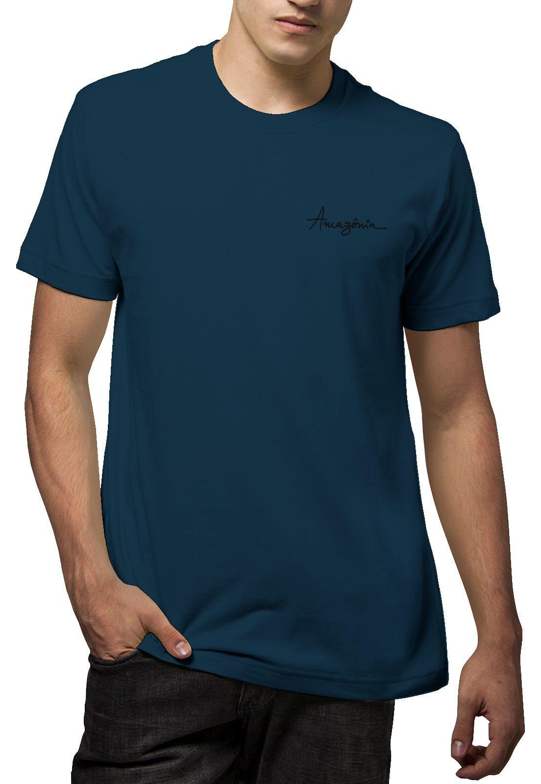 Camiseta Amazônia Costela de Adão - Azul Escuro